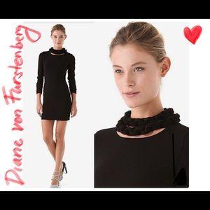 Diane Von Furstenberg DVF classy black dress 4